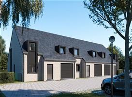 Nieuwbouw rijwoning met 3 slpk, garage en tuin