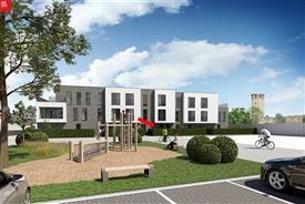 Modern gelijkvloers nieuwbouwappartement met groot zonneterras te huur in Sint-Niklaas