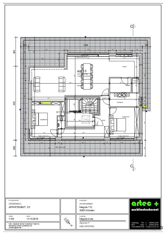 Foto 2 : Appartement te 9260 WICHELEN (België) - Prijs € 367.971