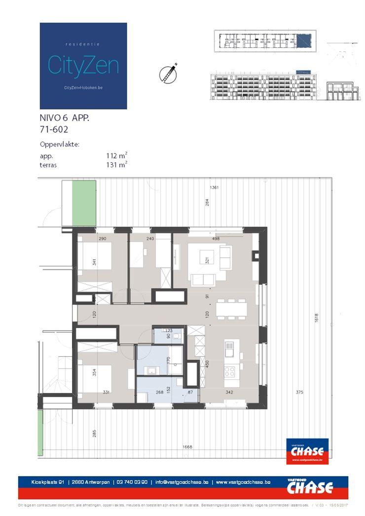 Penthouse te 2660 Hoboken (België) - Prijs € 269.500