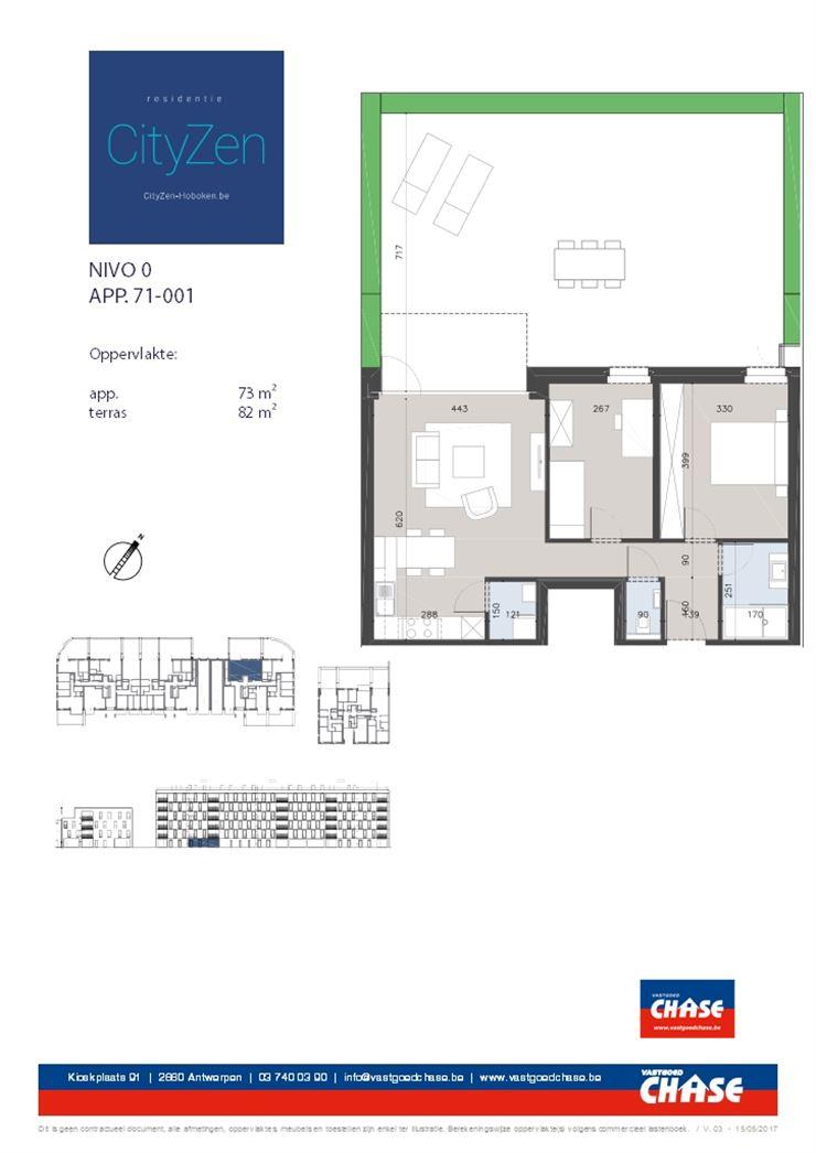 Appartement te 2660 Hoboken (België) - Prijs € 158.000