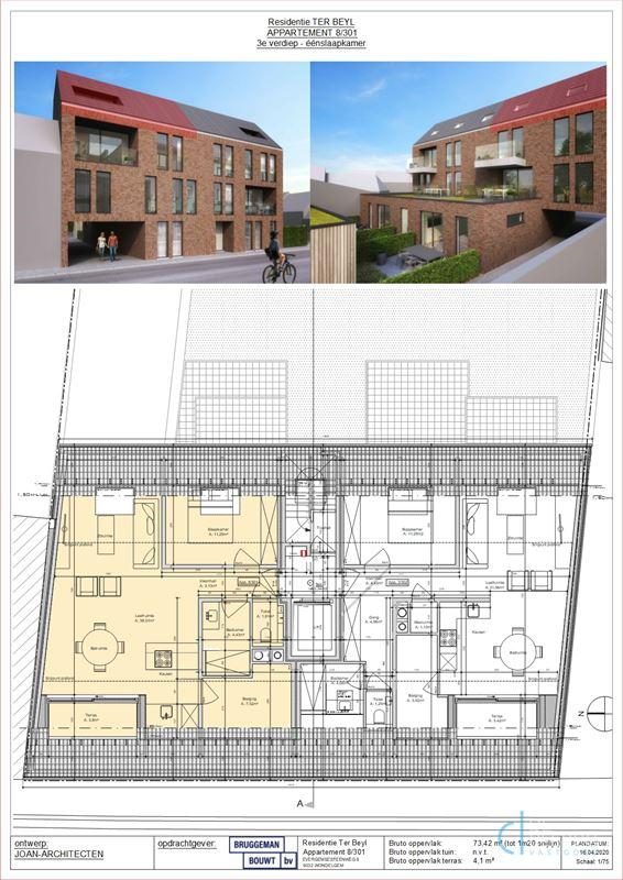 Foto 4 : Appartement te 9032 WONDELGEM (België) - Prijs € 220.000