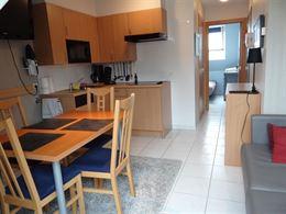 TE HUUR OP JAARBASIS - gemeubeld - 1 slaapkamer - knus appartement in het centrum van Nieuwpoort-Bad - enkel te huur als 2de verblijf - ingerichte keu...
