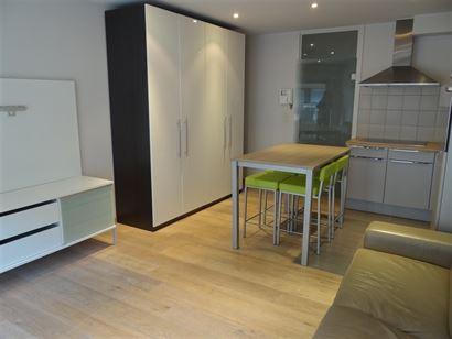 A LOUER A L'ANNEE - studio avec coin à dormir non meublé - équipement moderne - cuisine ouverte équipée avec frigo, four, lave-vaisselle et taque...