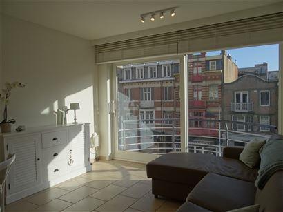 Res. Casino D2 0202 - Instapklare zonnige studio - Inkom met slaaphoek - Badkamer met douche, lavabo en toilet - Leefruimte met open keuken - Terras -...