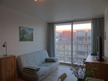 Res. Santhooft B 0511 - Studio met terras - Inkom - Badkamer met douche, lavabo en toilet - Keukenblok - Leefruimte met terras, uitgevend op de Fransl...