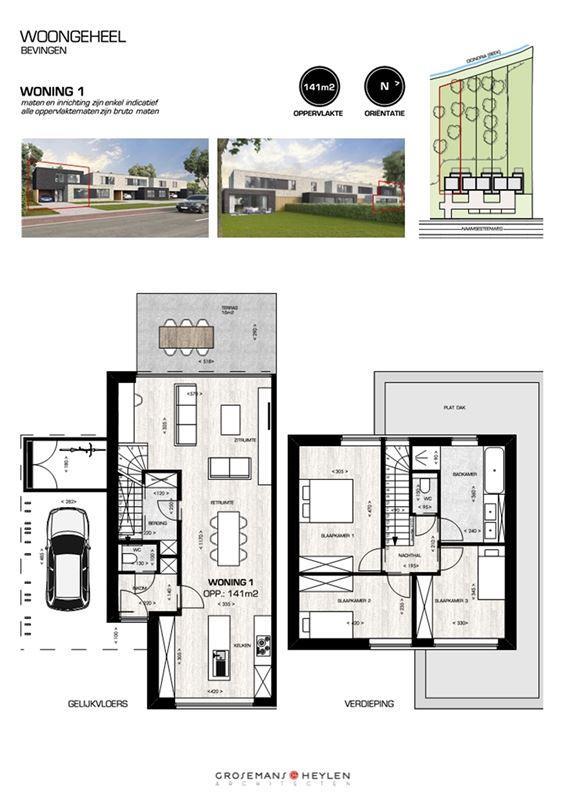 Foto 3 : Half-open bebouwing te 3800 BEVINGEN (België) - Prijs € 290.000