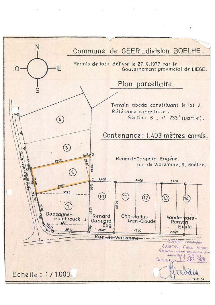 Image 11 : Terrain à bâtir à 4250 BOËLHE (Belgique) - Prix 89.900 €