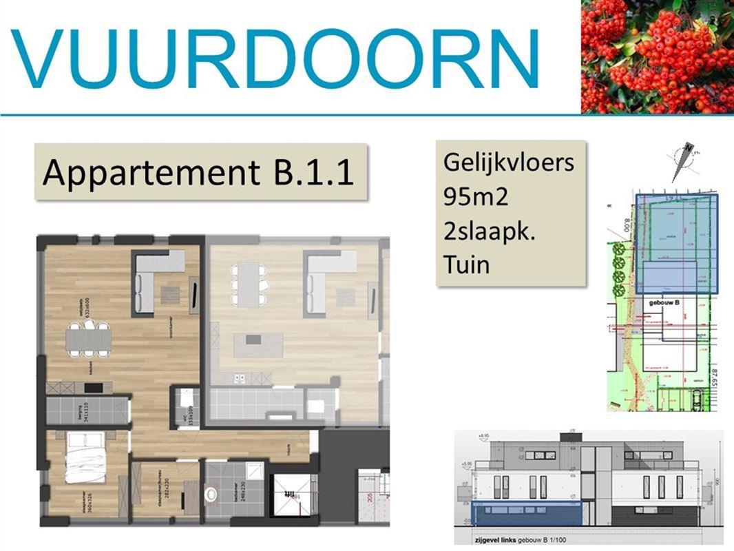 Gelijkvloers appartement met 2 slaapkamers en tuin