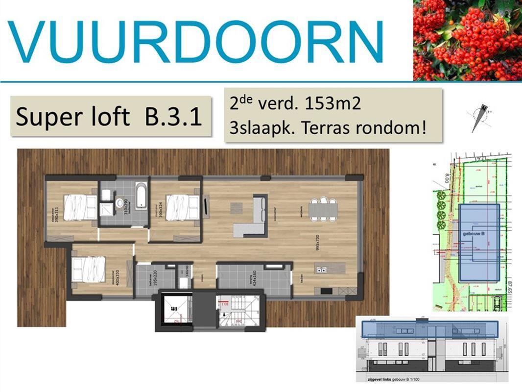 Super loft op 2de verd. met 3 slaapkamers en zeer ruim terras