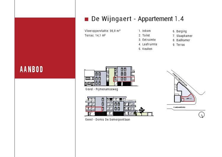 Foto 4 : nieuwbouw appartement te 2820 BONHEIDEN (België) - Prijs € 339.500