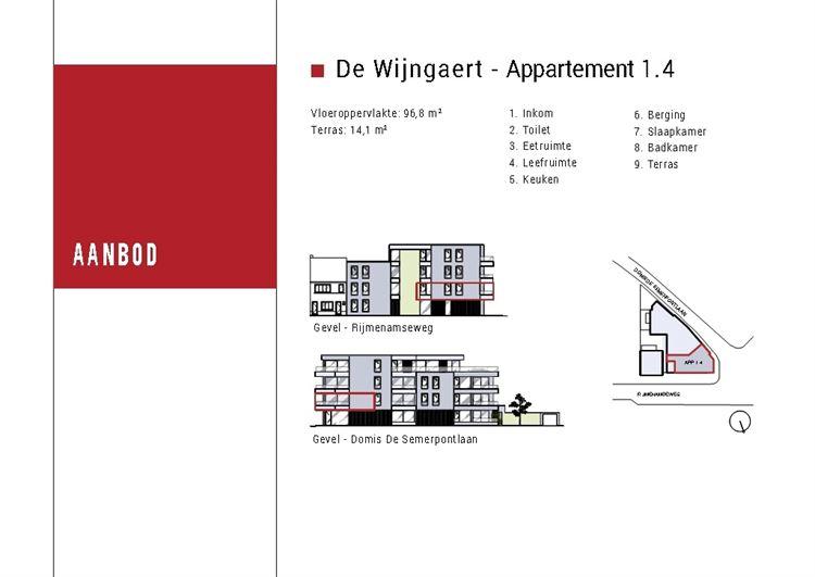 Foto 4 : nieuwbouw appartement te 2820 BONHEIDEN (België) - Prijs € 319.500