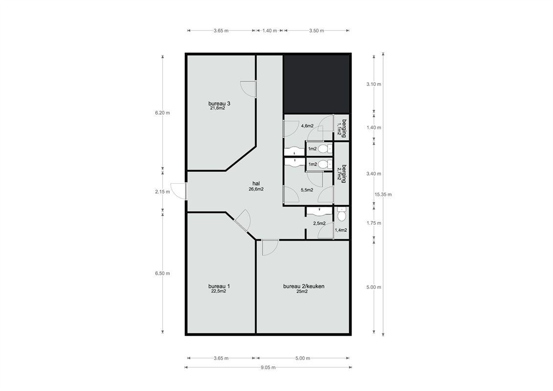 Foto 12 : Kantoor te 3770 RIEMST (België) - Prijs € 600