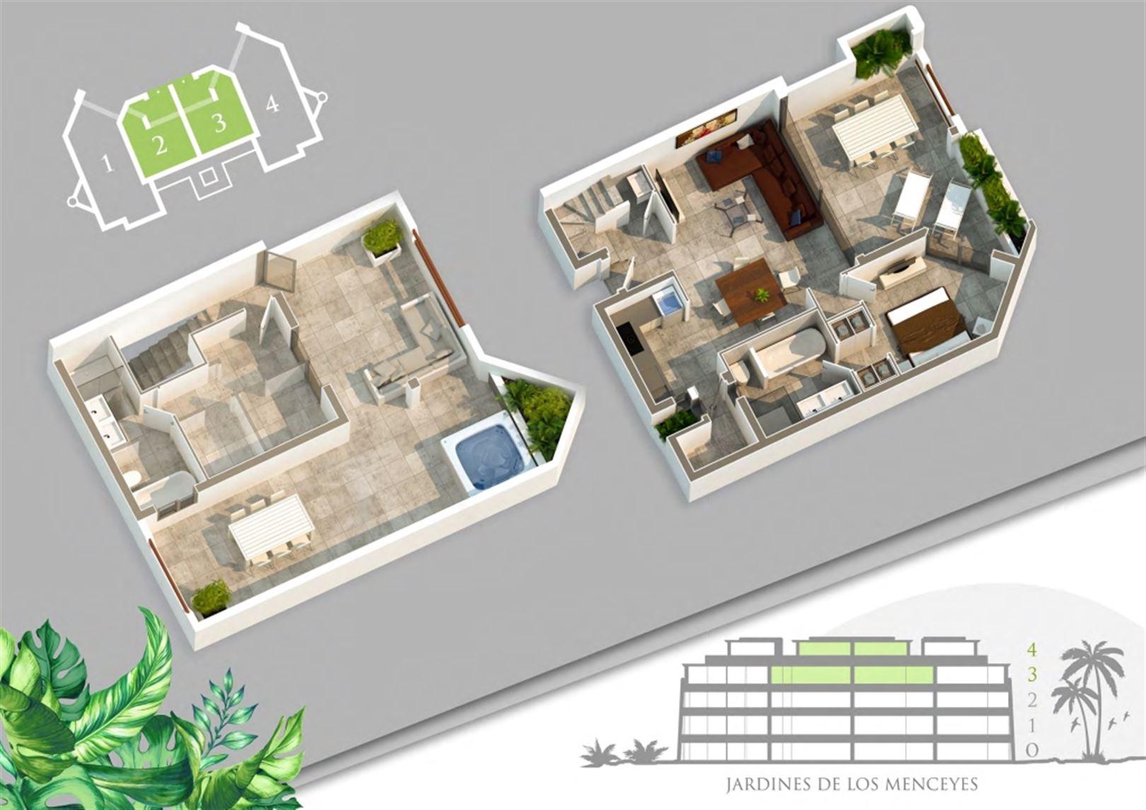 Foto 7 : Appartement te  ARONA - PALM MAR (Spanje) - Prijs Prijs op aanvraag