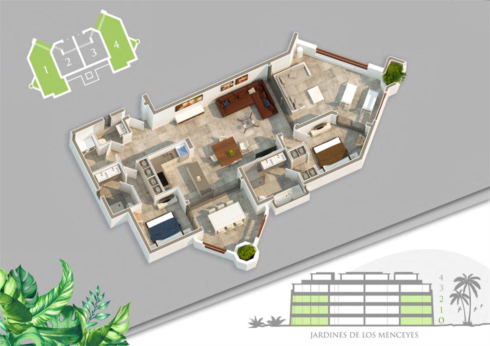 Foto 9 : Appartement te  ARONA - PALM MAR (Spanje) - Prijs Prijs op aanvraag