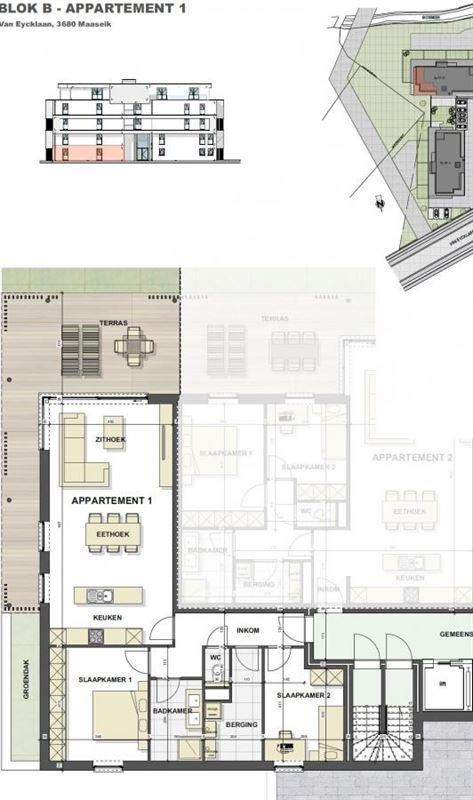 Foto 9 : Appartement te 3680 MAASEIK (België) - Prijs € 226.618