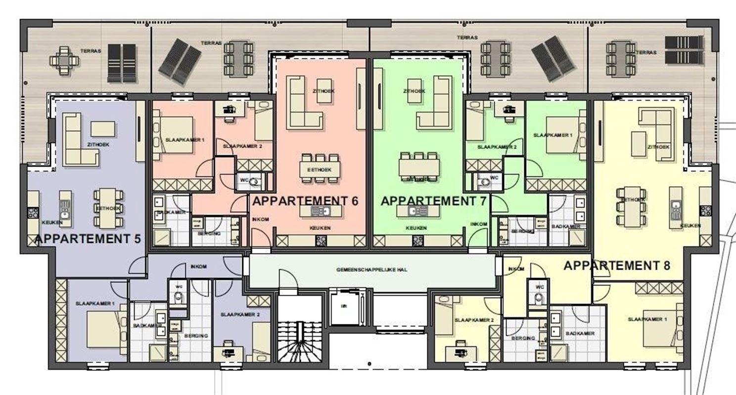 Foto 11 : Appartement te 3680 MAASEIK (België) - Prijs € 217.446