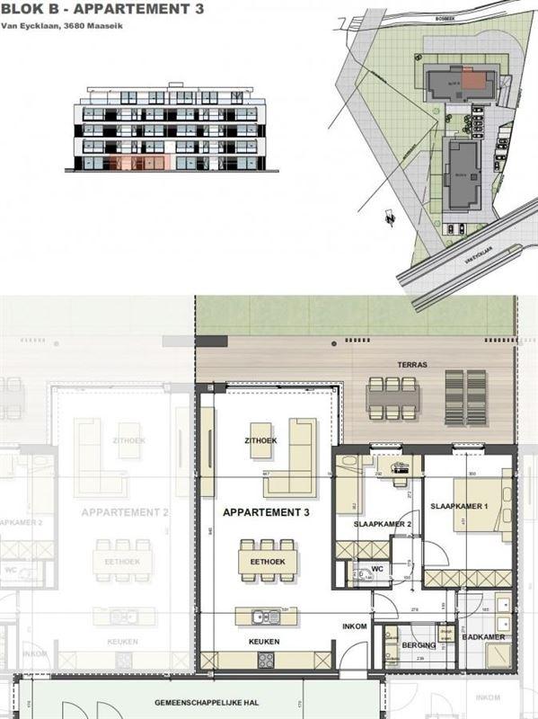 Foto 9 : Appartement te 3680 MAASEIK (België) - Prijs € 217.446