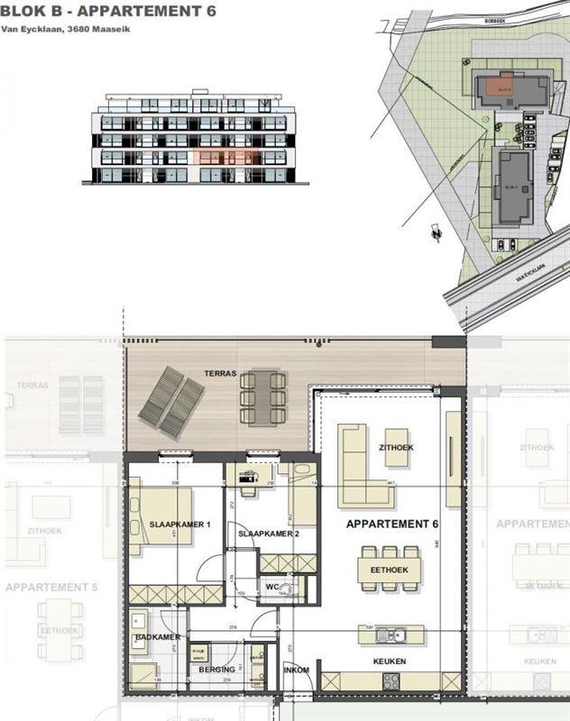 Foto 9 : Appartement te 3680 MAASEIK (België) - Prijs € 228.000